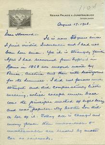 Letter from Frank Lyman to Howard A. Dalton
