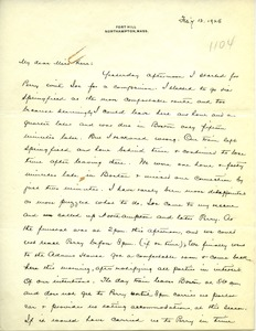 Thumbnail of Letter from Frank Lyman to Miss Kerr
