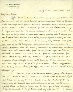 Thumbnail of Letter from Joseph Lyman to Frank Lyman