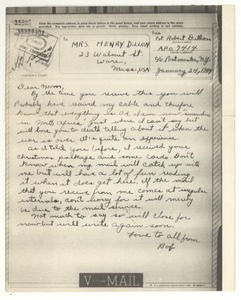 Thumbnail of Letter from Robert E. Dillon to Mary Dillon