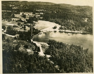Thumbnail of Aerial view of Lake Rohunta and the Rohunta Inn