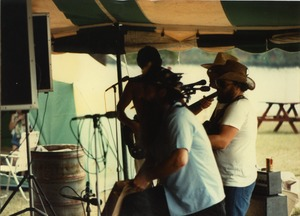 Thumbnail of Band, in cowboy hats, playing at the picnic, Pine Beach Rodney Hunt Company annual employee outing
