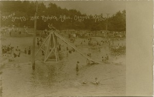 Thumbnail of Beach sports, Lake Rohunta, Athol, Orange, Mass.