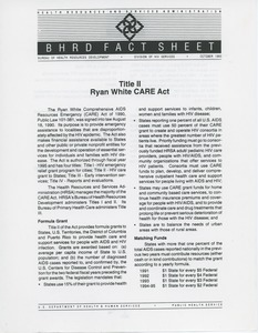 Thumbnail of Title II Ryan White CARE Act