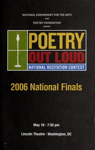 Thumbnail of Poetry Out Loud national recitation contest 2006 national finals