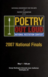 Thumbnail of Poetry Out Loud national recitation contest 2007 national finals