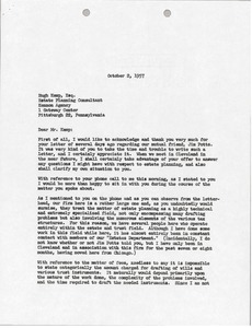 Thumbnail of Letter from Mark H. McCormack to Kennon Agency