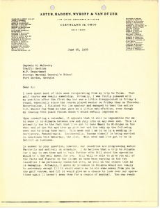 Thumbnail of Letter from Mark H. McCormack to Al Mulberry