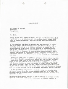 Thumbnail of Letter from Mark H. McCormack to Richard B. Sayford