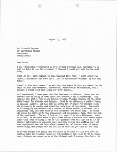 Thumbnail of Letter from Mark H. McCormack to Richard Sayford