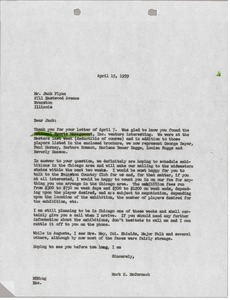 Thumbnail of Letter from Mark H. McCormack to Jack Flynn