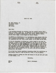 Thumbnail of Letter from Mark H. McCormack to Mike Cestone
