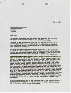 Thumbnail of Letter from Mark H. McCormack to Howard K. Hill