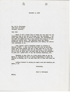 Thumbnail of Letter from Mark H. McCormack to Ned H. McCormack
