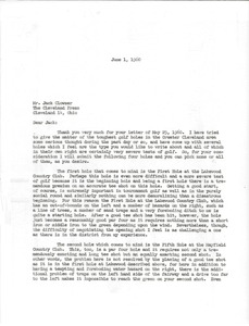 Thumbnail of Letter from Mark H. McCormack to The Cleveland Press