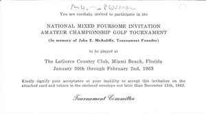 Thumbnail of National Mixed Foursome Invitation