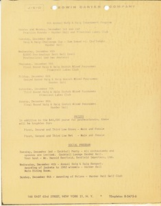 Thumbnail of Haig and Haig Tournament Program