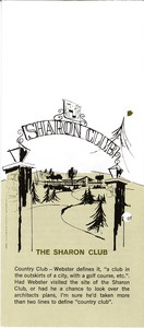 Thumbnail of The Sharon Club Brochure