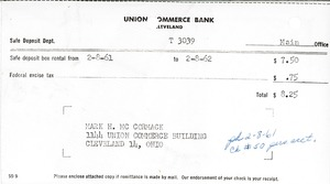 Thumbnail of Safety Deposit Box Invoice