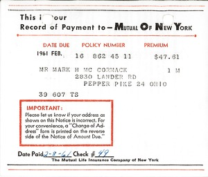 Thumbnail of Mutual of New York Receipt