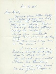 Thumbnail of Letter from Judy Bell to Mark H. McCormack
