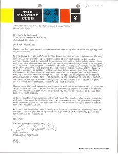 Thumbnail of Letter from Playboy Clubs International to Mark H. McCormack