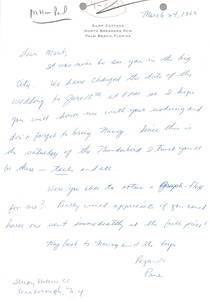 Thumbnail of Letter from Paul Kelly to Mark H. McCormack
