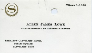 Thumbnail of Allen James Lowe business card