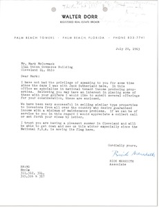 Thumbnail of Letter from Rick Meredith to Mark H. McCormack