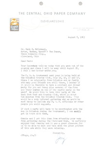 Thumbnail of Letter from Jerry F. Page Jr. to Mark H. McCormack
