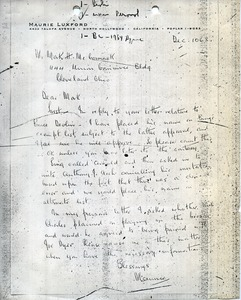 Thumbnail of Letter from Maurie Luxford to Mark H. McCormack