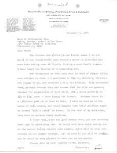 Thumbnail of Letter from Louis Emanuel III to Mark H. McCormack