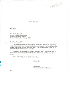 Thumbnail of Letter from Nancy Grey to Frank Abramoff