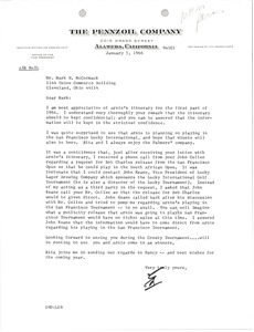 Thumbnail of Letter from The Pennzoil Company to Mark H. McCormack