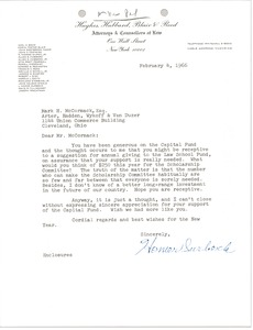 Thumbnail of Letter from L. Homer Surbeck to Mark H. McCormack