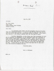Thumbnail of Letter from Mark H. McCormack to Pete Caudle