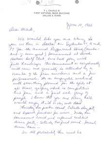 Thumbnail of Letter from T. L. Caudle III to Mark H. McCormack