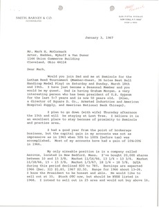 Thumbnail of Letter from Michael F. Dorsey to Mark H. McCormack