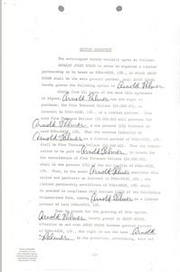 Thumbnail of Arnold Palmer agreement