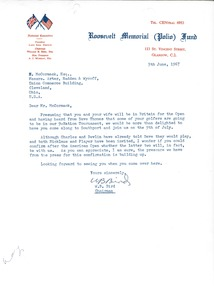 Thumbnail of Letter from Roosevelt Memorial Polio Fund to Mark H. McCormack