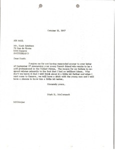 Thumbnail of Letter from Mark H. McCormack to Hank Ketcham