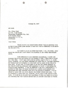 Thumbnail of Letter from Mark H. McCormack to Clive Clark