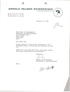 Thumbnail of Letter from Linda Houseman to Mary Ann Badalamenti