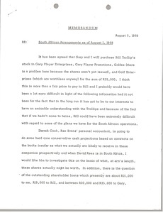 Thumbnail of Memorandum concerning South African Arrangements as of August 1, 1968
