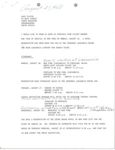 Thumbnail of Letter from Mary Ann Badalamenti to Gary Player