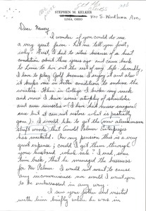 Thumbnail of Letter from Stephen M. Kelker to Nancy McCormack