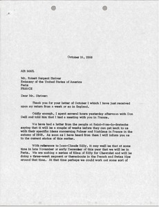 Thumbnail of Letter from Mark H. McCormack to Robert Sargent Shriver