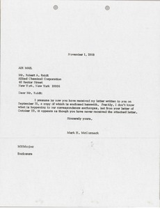 Thumbnail of Letter from Mark H. McCormack to Robert A. Raidt