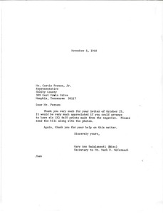 Thumbnail of Letter from Mary Ann Badalamenti to Curtis Person