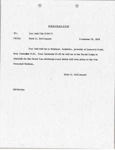 Thumbnail of Memorandum to Don Dell File